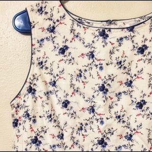 Vintage linen floral country dress